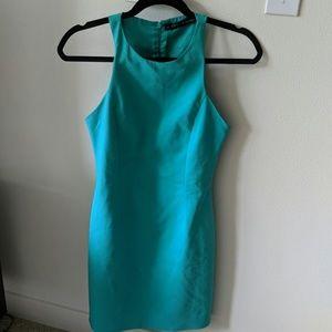 Zara basic turquoise halter shift dress